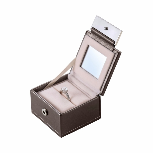 pop the wedding luxury ring box jewelry pu leather engagement gift case