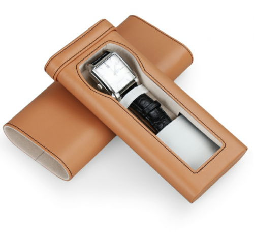 travel luxury sliding watch display drawer leather box