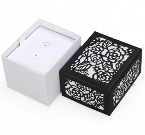 hollow paper box necklace ring earring jewelry set packaging box